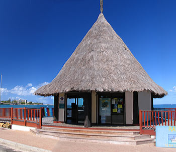 Tourism information office in Anse Vata, New Caledonia