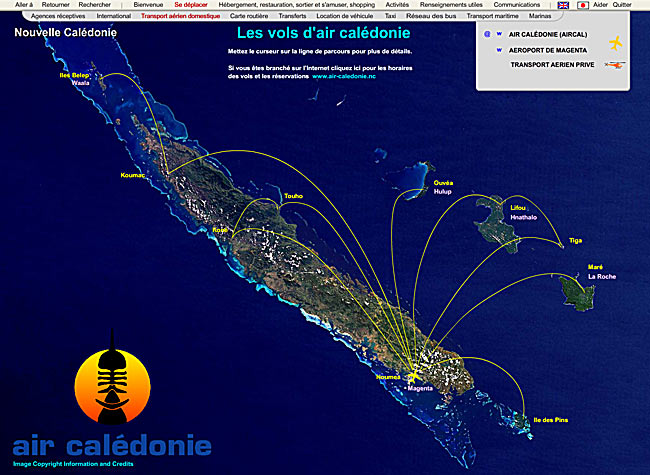 flights in new caledonia - air caledonie
